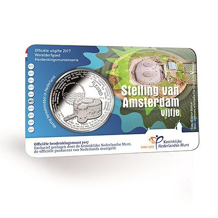 Stelling van Amsterdam herdenkingsmunt 8 december verkrijgbaar