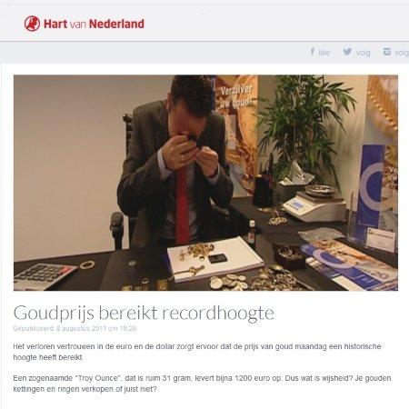 Goudprijs bereikt recordhoogte