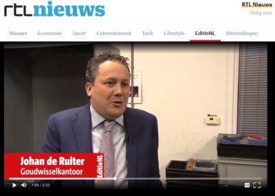Goudwisselkantoor bij RTL Nieuws over de vermiste goudstaaf