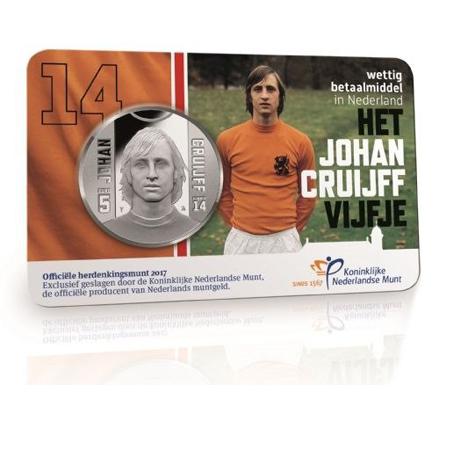 Johan Cruijff herdenkingsmunt 20 september beschikbaar