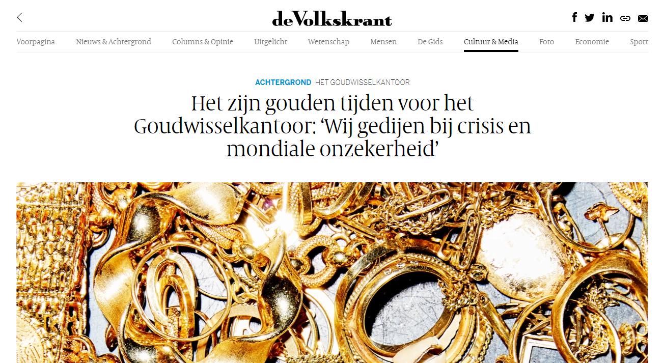 Het zijn gouden tijden voor het Goudwisselkantoor: 'Wij gedijen bij crisis en mondiale onzekerheid'